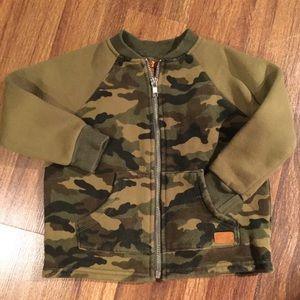 7 For All Mankind camo zip-up sweatshirt